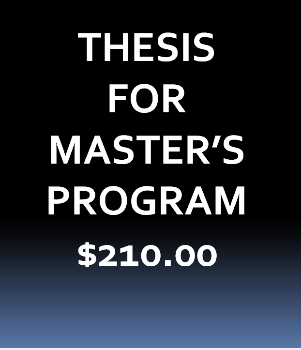2.Thesis for Master's Program