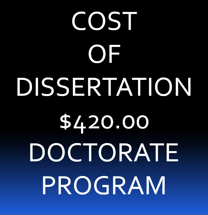 2. Dissertation for Doctorate Course