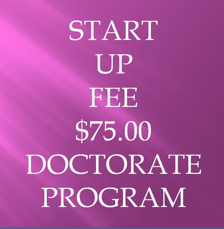 1. Start Up Fee for the Doctorate Program