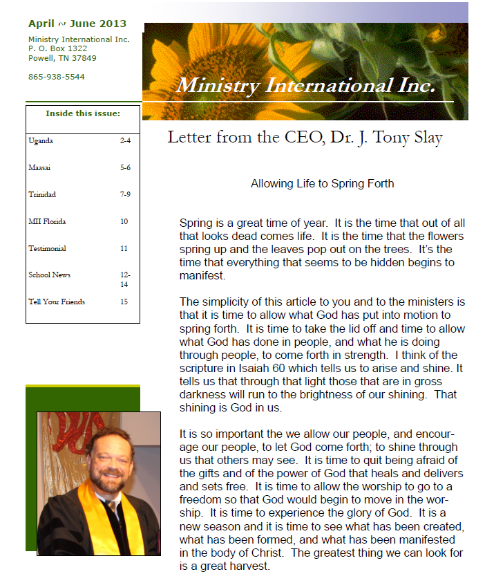 Ministry to Ministers – Ministry International Inc